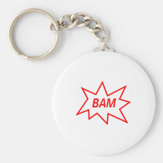 Bam Red Keychain