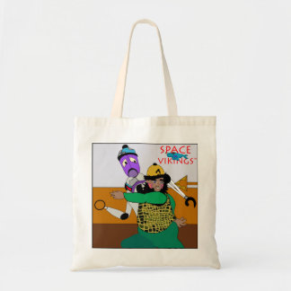 Bam & Robot in Big Trouble! Tote Bag
