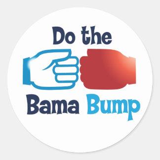 Bama fist bump round sticker