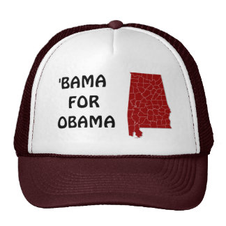'BAMA FOR OBAMA TRUCKER HAT