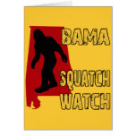 Bama Squatch Watch Card