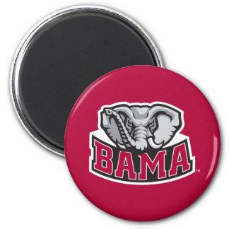 Bama with Big Al 2 Inch Round Magnet