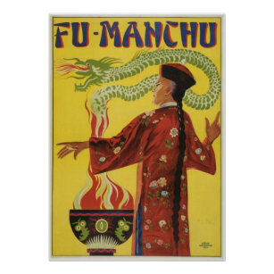 Magic Makers Fu Manchu Magic Poster