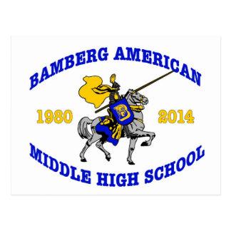 Bamberg Middle High School 1980-2014 Postcard