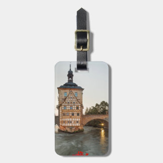 Bamberg Old Town Hall and Obere Bridge Luggage Tag
