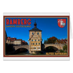 Bamberg - paisaje de Altes Rathaus Felicitaciones