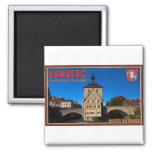 Bamberg - paisaje de Altes Rathaus Imán Para Frigorifico