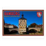 Bamberg - paisaje de Altes Rathaus Postal