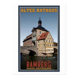 Bamberg - retrato de Altes Rathaus Postal