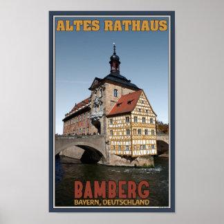 Bamberg - retrato de Altes Rathaus Póster