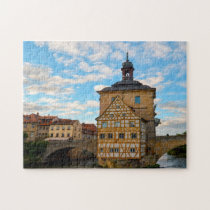 Bamberg Town Hall Fachwerkhaus Germany. Jigsaw Puzzle