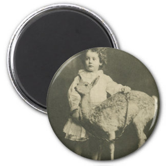 bambi and child 2 inch round magnet
