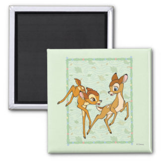 Bambi and Faline 2 Inch Square Magnet