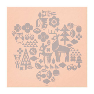 Bambi and Woodland Creatures Canvas Print