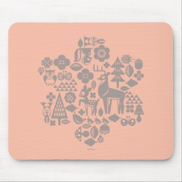 Disney Themed Bambi and Woodland Creatures Mouse Pad