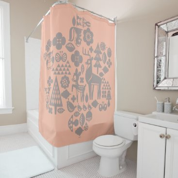 Disney Themed Bambi and Woodland Creatures Shower Curtain