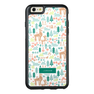 Bambi and Woodland Friends Pattern | Add Your Name OtterBox iPhone 6/6s Plus Case