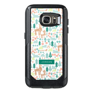 Bambi and Woodland Friends Pattern | Add Your Name OtterBox Samsung Galaxy S7 Case