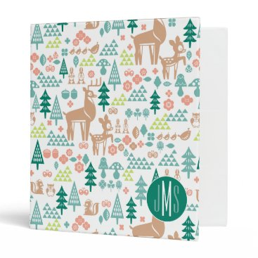 Disney Themed Bambi and Woodland Friends Pattern | Monogram Binder