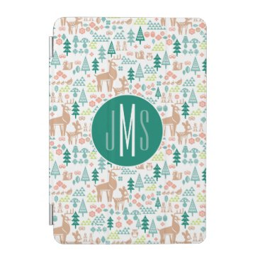 Disney Themed Bambi and Woodland Friends Pattern | Monogram iPad Mini Cover