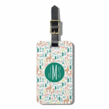 Disney Themed Bambi and Woodland Friends Pattern | Monogram Luggage Tag
