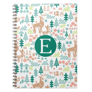 Disney Themed Bambi and Woodland Friends Pattern | Monogram Notebook