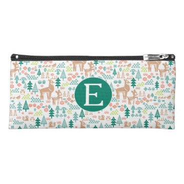 Disney Themed Bambi and Woodland Friends Pattern | Monogram Pencil Case