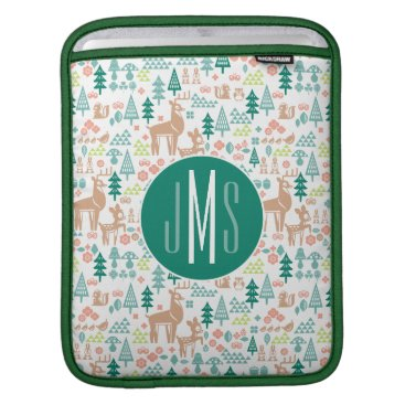 Disney Themed Bambi and Woodland Friends Pattern | Monogram Sleeve For iPads