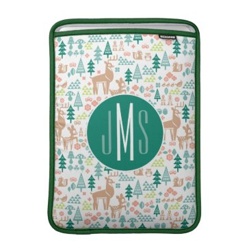 Disney Themed Bambi and Woodland Friends Pattern | Monogram Sleeve For MacBook Air