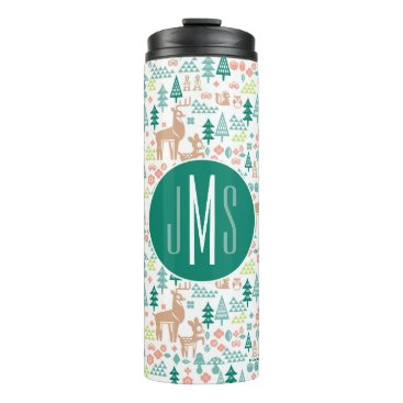 Disney Themed Bambi and Woodland Friends Pattern | Monogram Thermal Tumbler