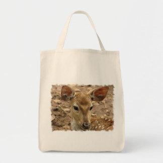 Bambi Deer Grocery Tote Bag