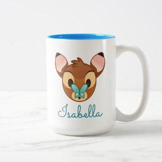Bambi Emoji Two-Tone Coffee Mug