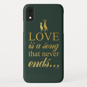 """Bambi & Father """"Love Is A Song That Never Ends"""" iPhone XR Case"""
