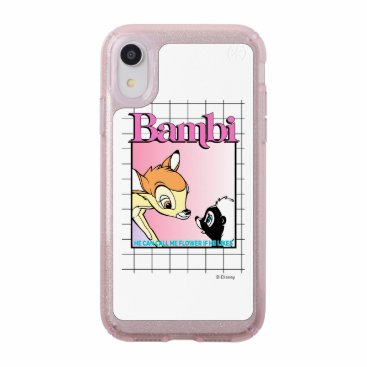 Bambi & Flower Retro Grid Graphic Speck iPhone XR Case