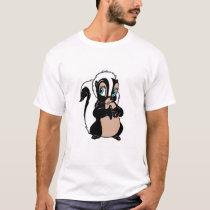 Bambi Flower skunk standing shy T-Shirt