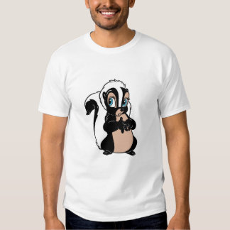 Bambi Flower skunk standing shy Tee Shirt