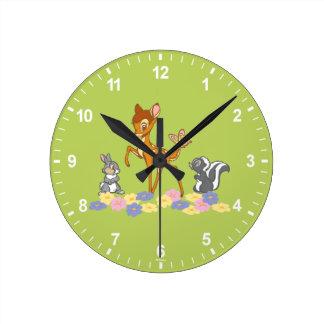 Bambi & Friends Round Clock