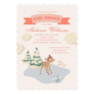 Bambi | Girl Baby Shower Card