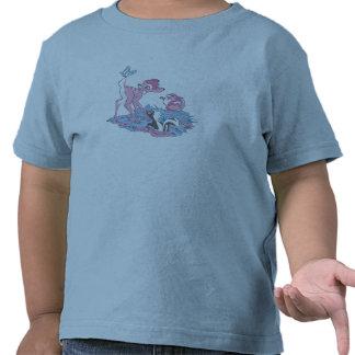 Bambi, golpeador, y flor con la mariposa camiseta