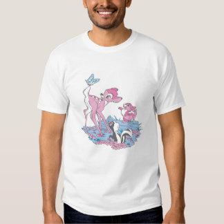 Bambi, golpeador, y flor con la mariposa poleras
