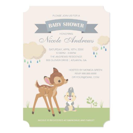 Bambi | Neutral Baby Shower Card | Zazzle