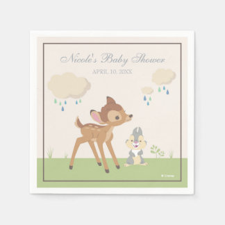 Bambi | Neutral Baby Shower Paper Napkin
