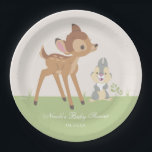 "Bambi | Neutral Baby Shower Paper Plate<br><div class=""desc"">This cute baby shower plates feature your favorite woodland creatures,  Bambi and Thumper.</div>"