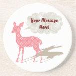 Bambi rosado todo el práctico de costa del persona posavasos personalizados