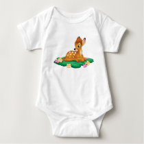 Bambi sitting on the grass baby bodysuit