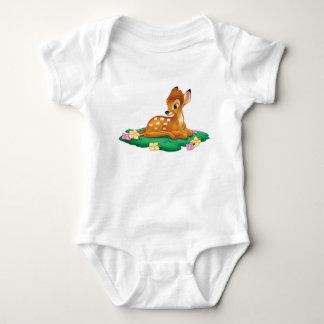 Bambi sitting on the grass baby bodysuit