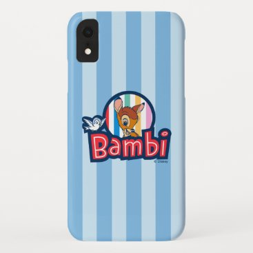 Bambi Striped Badge iPhone XR Case