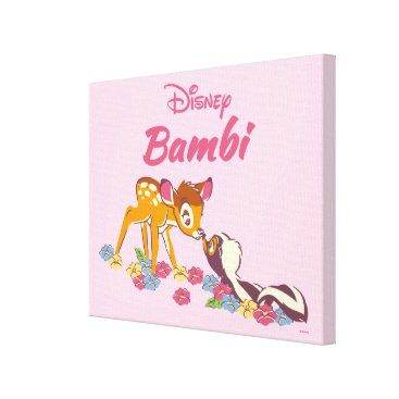 Disney Themed Bambi   Sweet as can be Canvas Print