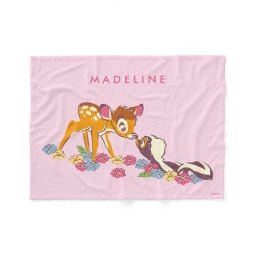 Disney Themed Bambi   Sweet as can be Fleece Blanket