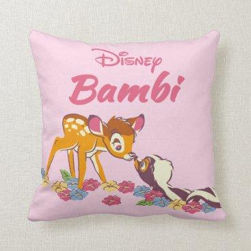 Disney Themed Bambi   Sweet as can be Throw Pillow
